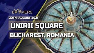 UNIRII SQUARE, BUCHAREST, ROMANIA - 20TH AUGUST 2021