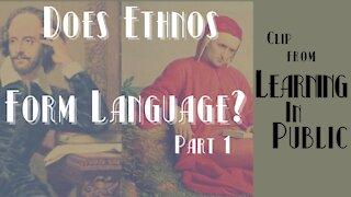 Does Ethnos Form Language? Pt. 1   CLIP