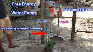 Free Energy Water Pump for plants - Pump Water Without Electricity