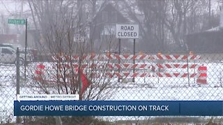 Gordie Howe Bridge construction back on track