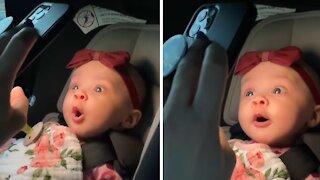 Precious baby recognizes her aunt over FaceTime