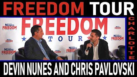 Freedom Tour Charlotte: Devin Nunes and Rumble CEO Chris Pavlovski