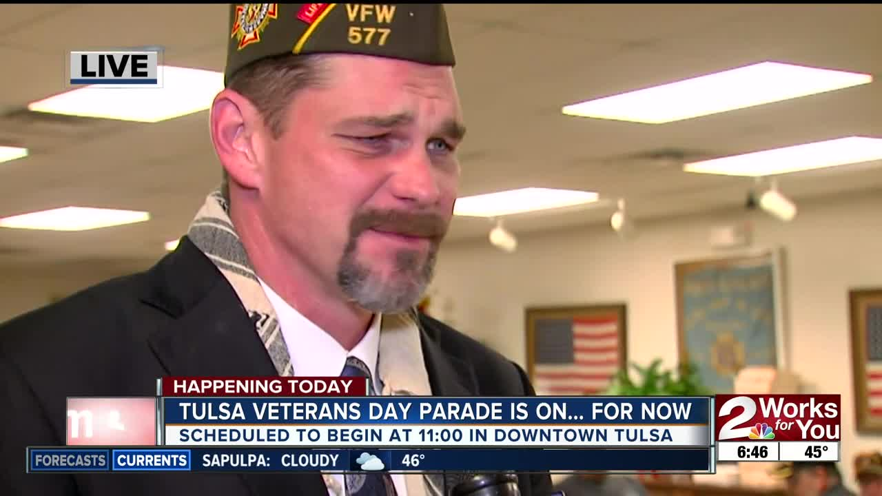 """Tulsa's """"Welcome Home"""" Veterans Day Parade starts at 11 a.m."""