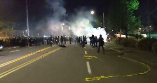Portland Antifa Set Fire To Police Station