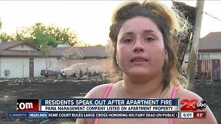 Residents blame apartment complex for fire