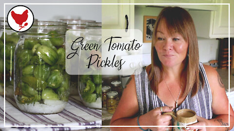 GREEN TOMATO PICKLES - Preserving the Harvest | A Good Life Farm