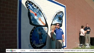 Final butterfly mural unveiled celebrating Papillion's 150th birthday