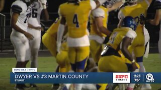 Martin County football wins district title