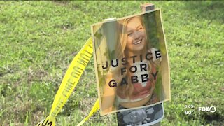 Protestors gather outside Laundrie Family home in North Port