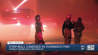 Three businesses damaged in south Phoenix fire