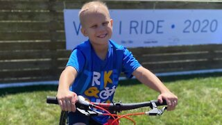 Brunswick community takes on 'Trike and Bike' event honoring 11-year-old's cancer battle