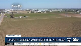 Drought: Emergency water restrictions vote Tuesday