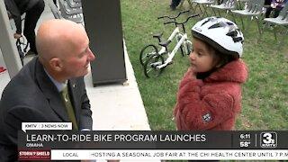 Nebraska Gov. Pete Ricketts in Omaha to support school bike riding program