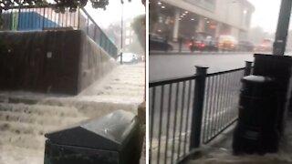 Heavy rain in London leads to intense flash floods