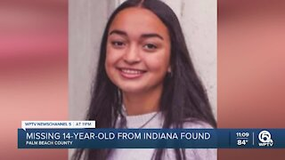 Missing teen from Indiana found in South Florida