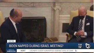 Fact or Fiction: Was President Biden sleeping during meeting?
