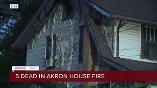 5 killed in Akron house fire overnight