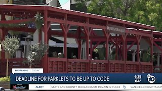 Deadline for parklets to be up to code