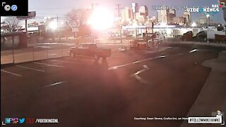 New angle from the Nashville explosion shows massive fireball rising above the city