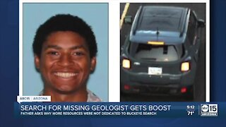 Search for missing geologist gets boost