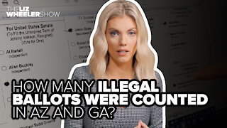 How many illegal ballots were counted in AZ and GA?