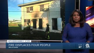 Belle Glade apartment fire displaces family