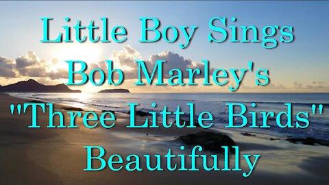 Little Boy Sings.