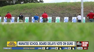 Manatee County delays vote on whether to arm teachers
