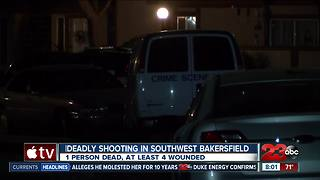 One man dead, four others wounded in southwest Bakersfield shooting