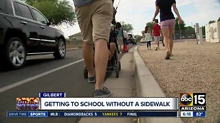 Getting to school without a sidewalk