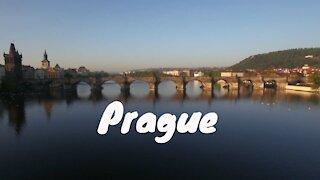 Aerial of Prague
