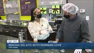 Gelato sundae at Norman Love Confections for National Ice Cream Month
