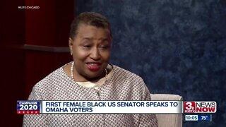 First Female Black US Senator Speaks to Omaha Voters