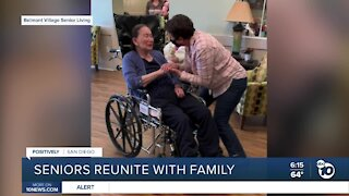 Nursing home residents reunite with family