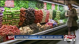 Amazon Prime members get free grocery delivery