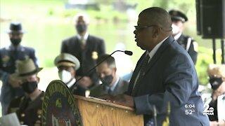 WMAR Photojournalist keynote speaker at Fallen Heroes ceremony
