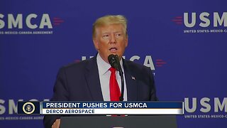 TODAY'S TMJ4's Charles Benson asks President Trump about job creation in Milwaukee