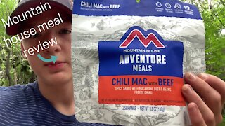Mountain house meal review