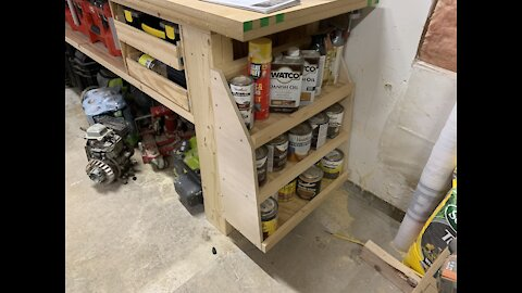 Paint and Stain Shelving