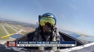 Flying with the Blue Angels before MacDill AirFest 2018
