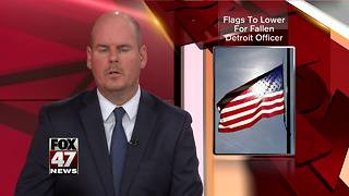 Gov. Rick Snyder lowers flags to honor fallen Detroit Police Officer Fadi Shukur