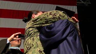 Navy service member surprises sister, cousin at West Boca Community High School graduation