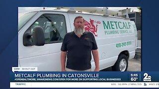 "Metcalf Plumbing Service in Catonsville says ""We're Open Baltimore!"""