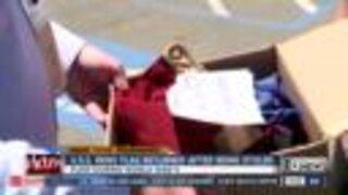 U.S.S. Reno flag returned after being stolen