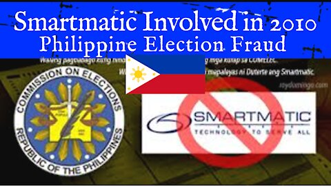 Smartmatic Involved in 2010 Philippine Election Fraud