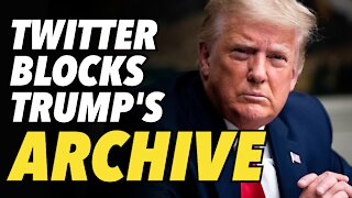 Twitter blocks archivers from access to Trump's tweet history