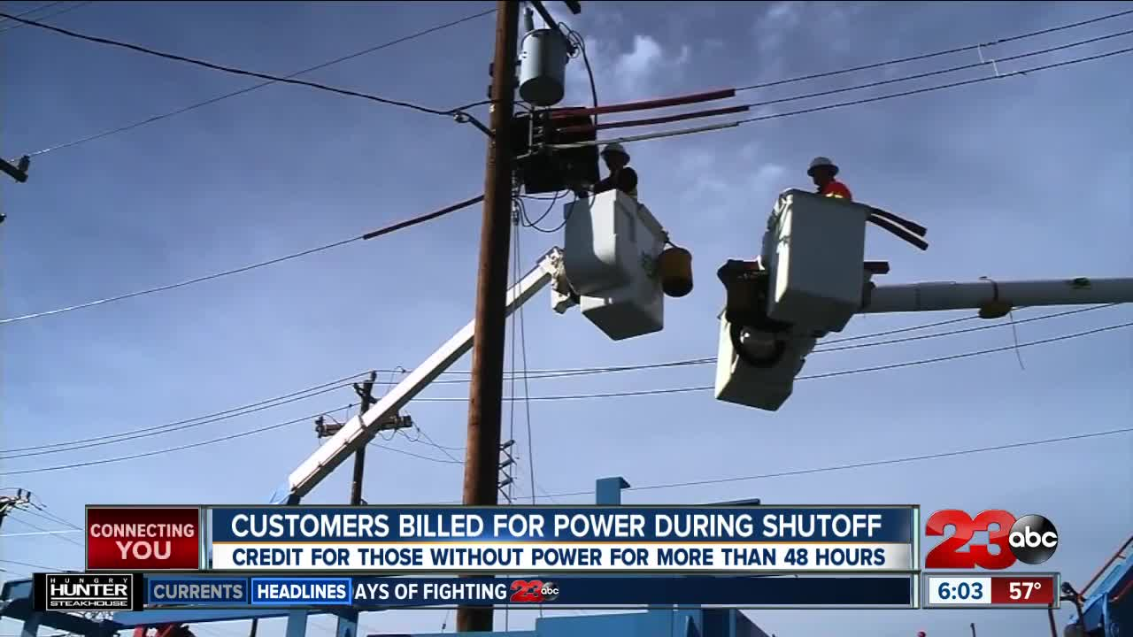 Customers Billed for Power During Shutoff