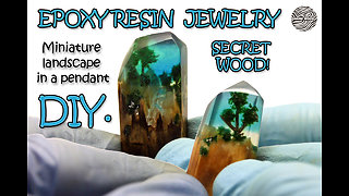 How to make miniature landscapes in a pendant