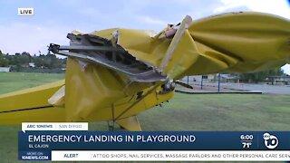 Plane makes emergency landing near El Cajon playground