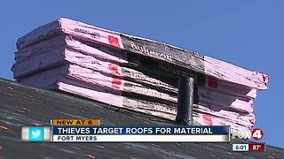 Thieves target roofs for materials